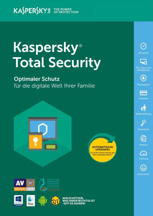 Kaspersky Total Security 2021 - 5 Geräte