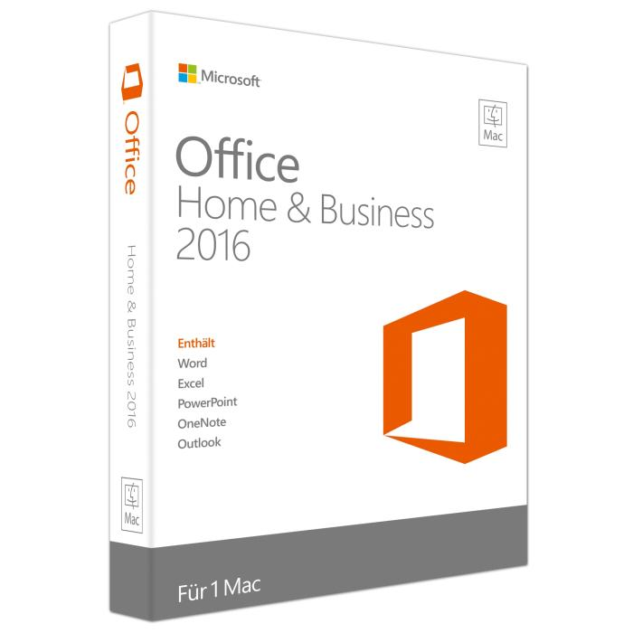 Microsoft Office 2016 Home and Business - macOS